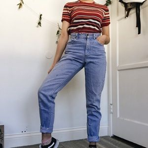 vintage light wash denim